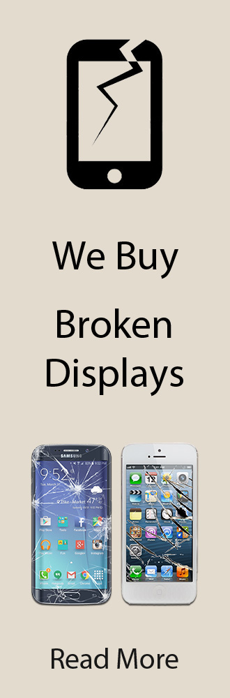 We buy broken displays