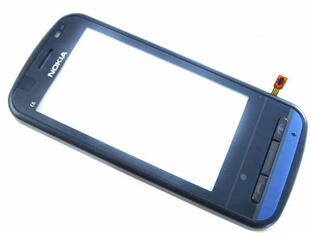 Nokia C6-00 Org. Front Cover + Touchscreen Sort