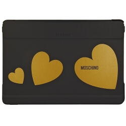 Samsung Galaxy Note/Tab 12.2 Flip Case Moschino Sort/Guld