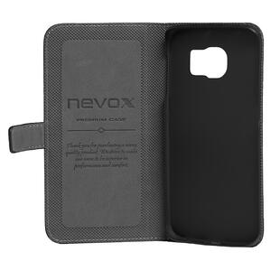 Nevox Galaxy Alpha ORDO Book Leathercase Sort/Grå