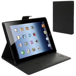 Mercury Goospery Fancy Diary Case for iPad 2 / 3 / 4 - Black