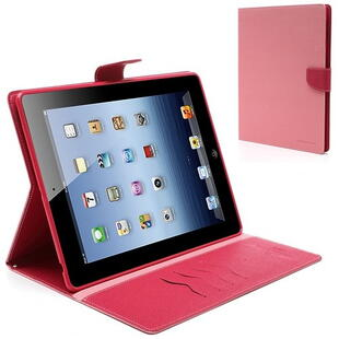 Mercury Goospery Fancy Diary Case for iPad 2 / 3 / 4 - Pink