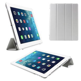 Four-fold Smart Leather Stand Case for iPad 2/3/4 - White
