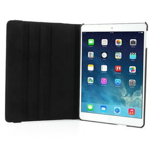 360 Degree Rotating Leather Case til iPad Air - Sort