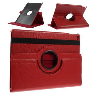 360 Degree Rotating Leather Case for iPad Air/Air 2/2017/2018 - Red