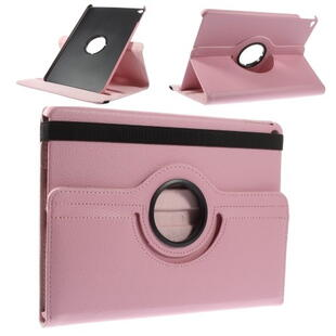 360 Degree Rotating Leather Case for iPad Air/Air 2/2017/2018 - Pink
