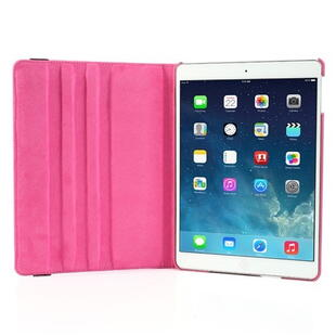 360 Degree Rotating Leather Case til iPad Air - Rose