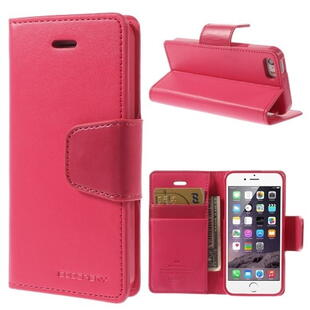 MERCURY Goospery Sonata Diary Leather Case til iPhone SE 5s 5 - Rose