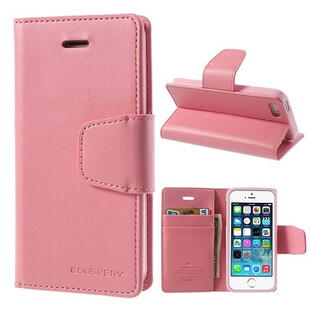 MERCURY Goospery Sonata Diary Leather Case for iPhone 5C - Pink