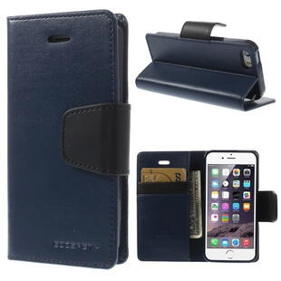 MERCURY Goospery Sonata Diary Leather Case for iPhone SE 5s 5 - Mørk Blå