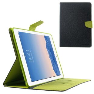 MERCURY Goospery Fancy Diary Case til iPad Air 2 - Blå/Lime