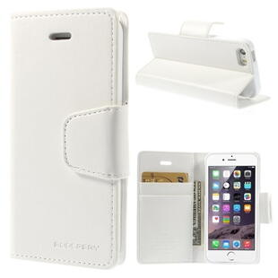 MERCURY Goospery Sonata Diary Leather Case for iPhone SE 5s 5 - White