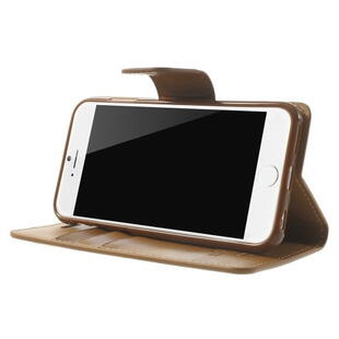 MERCURY GOOSPERY Sonata Diary Leather Cover til iPhone 6/6S - Brun