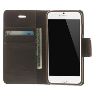 MERCURY GOOSPERY Sonata Diary Leather Stand Case til iPhone 6/6S - Coffee