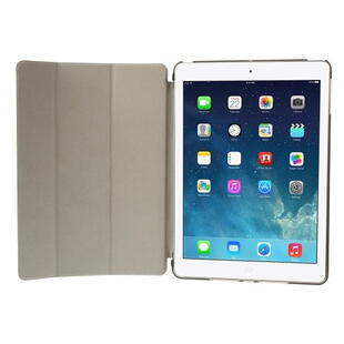 iPad Air Tri-folding Smart Leather Flip Cover - Sort