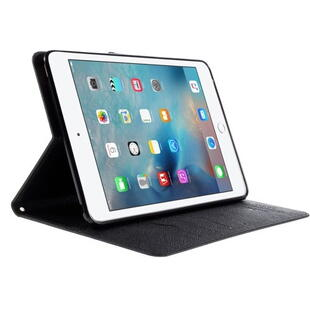 MERCURY GOOSPERY Leather Wallet Cover for iPad Mini 4 with Stand - Black