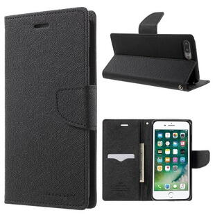 MERCURY GOOSPERY Leather Wallet Case for iPhone 8 Plus/7 Plus Black