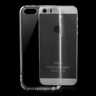 Transparent TPU Edges & Crystal PC Back Case for iPhone SE / 5s / 5