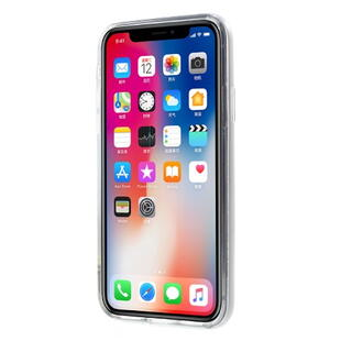MERCURY GOOSPERY PC TPU Hybrid Kickstand Cover til iPhone X Sølv