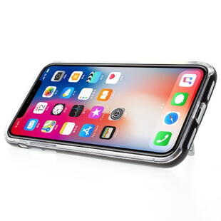 MERCURY GOOSPERY PC TPU Hybrid Kickstand Cover til iPhone X Sort