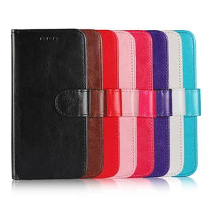 Crazy Horse Magnetic Stand Wallet PU Leather Protective Cover til iPhone X Brun