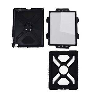 PEPKOO Spider Series for iPad Air Extreme Heavy Duty PC + Silicone Hybrid Case Black