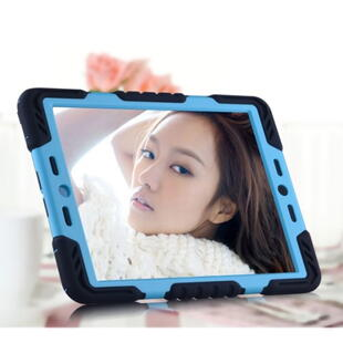 PEPKOO Spider Series for iPad Air Extreme Heavy Duty PC + Silicone Hybrid Case Sort/Blå