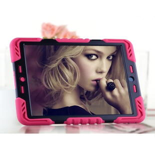 PEPKOO Spider Series for iPad Air Extreme Heavy Duty PC + Silicone Hybrid Case Sort/Pink