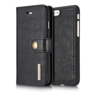 Apple iPhone 7/8 DG.MING Split Leather Wallet Cover with Detachable PC Back Shell Sort