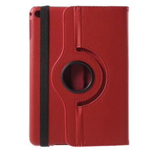 Apple iPad Mini 4 Lychee 360-Rotation Leather Stand Case Red