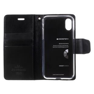 MERCURY GOOSPERY Sonata Diary Case for iPhone X / XS Black