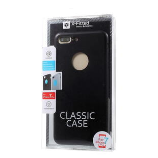 X-FITTED Classic Hard Back Case til iPhone 8 Plus / 7 Plus Sort