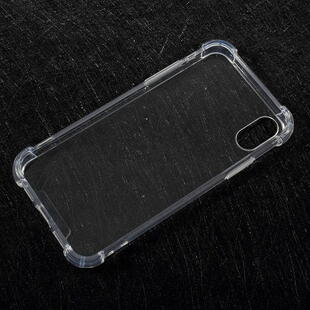 Drop-resistant Acrylic Hard Case Cover for iPhone X Transparent