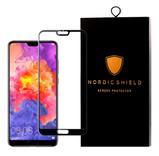 Nordic Shield Huawei P20 Pro Screen Protector 3D Curved Black (Blister)