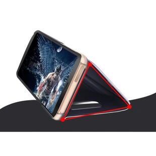 Plated Mirror Surface View Cover til Samsung Galaxy S9 Lilla