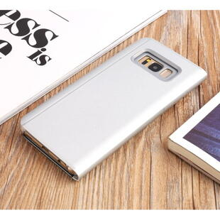 Plated Mirror Surface View Case for Samsung Galaxy S8+ Silver