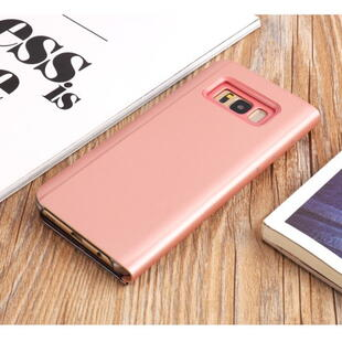 Plated Mirror Surface View Cover til Samsung Galaxy S8+ Rose Gold