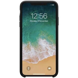 Hard Silicone Case til iPhone XS Max Sort