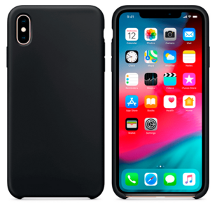 Hard Silicone Case for iPhone X Dark Grey