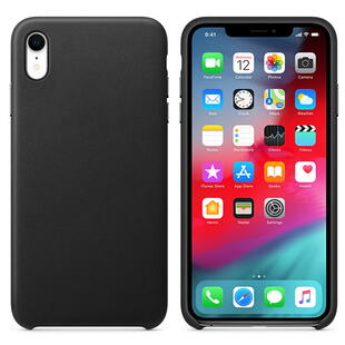 Real Leather Case for iPhone XR Black