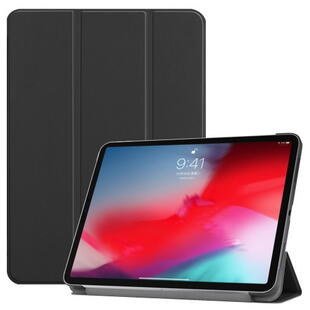 iPad Pro 11-inch (2018) Tri-fold Stand Leather Smart Case - Black