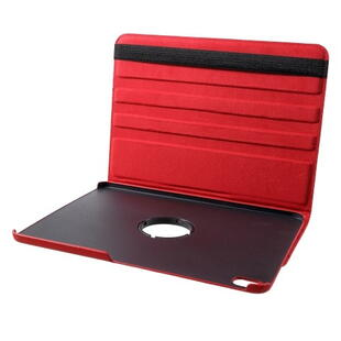 iPad Pro 11-inch (2018) Litchi Grain Leather Cover with 360 Degree Rotary Stand - Red