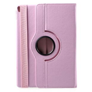iPad Pro 10.5-inch (2017) Litchi Grain Leather Cover with 360 Degree Rotary Stand - Pink