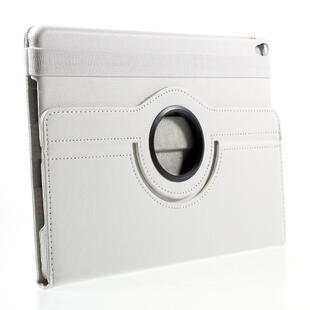 iPad Pro 10.5-inch (2017) Litchi Grain Leather Cover with 360 Degree Rotary Stand - White