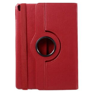 iPad Pro 10.5-inch (2017) Litchi Grain Leather Cover with 360 Degree Rotary Stand - Red