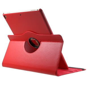 iPad Pro 12.9-inch (2017) Litchi Grain Leather Cover with 360 Degree Rotary Stand - Red