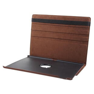 iPad Pro 12.9-inch (2017) Litchi Grain Leather Cover with 360 Degree Rotary Stand - Brown