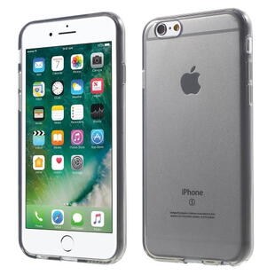 Glossy Surface TPU Gel Case til iPhone 6 / 6S - Transparent Grå