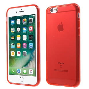 Glossy Surface TPU Gel Case for iPhone 6 / 6S - Transparent Red