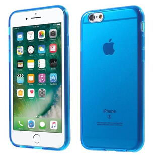Glossy Surface TPU Gel Case for iPhone 6 / 6S - Transparant Blue